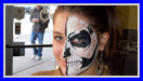 Lace Skull Face Painting